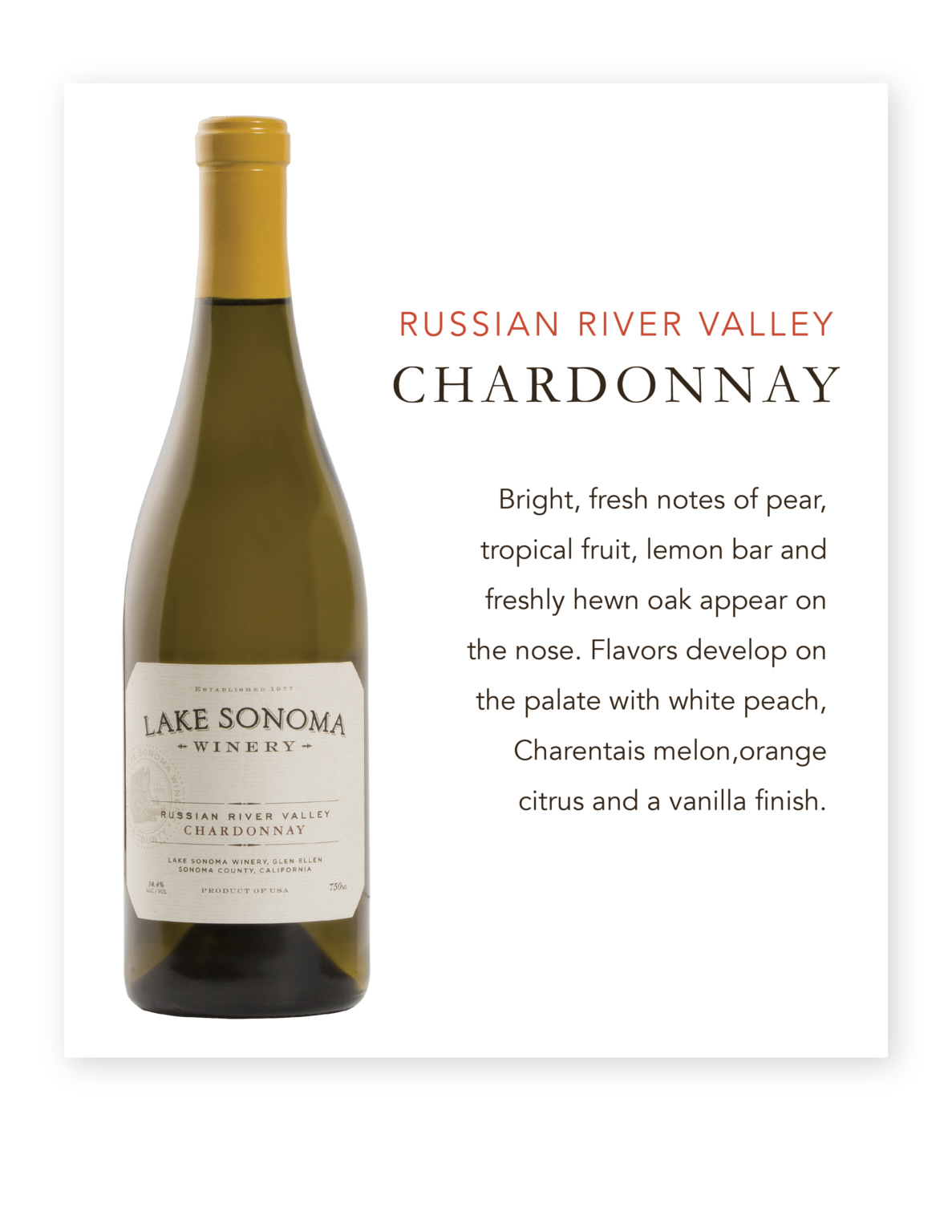 Lake Sonoma Russian River Chardonnay